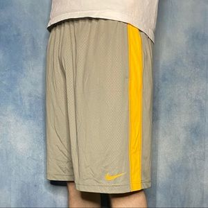 Nike Gym Shorts Grey and Yellow Colorway
